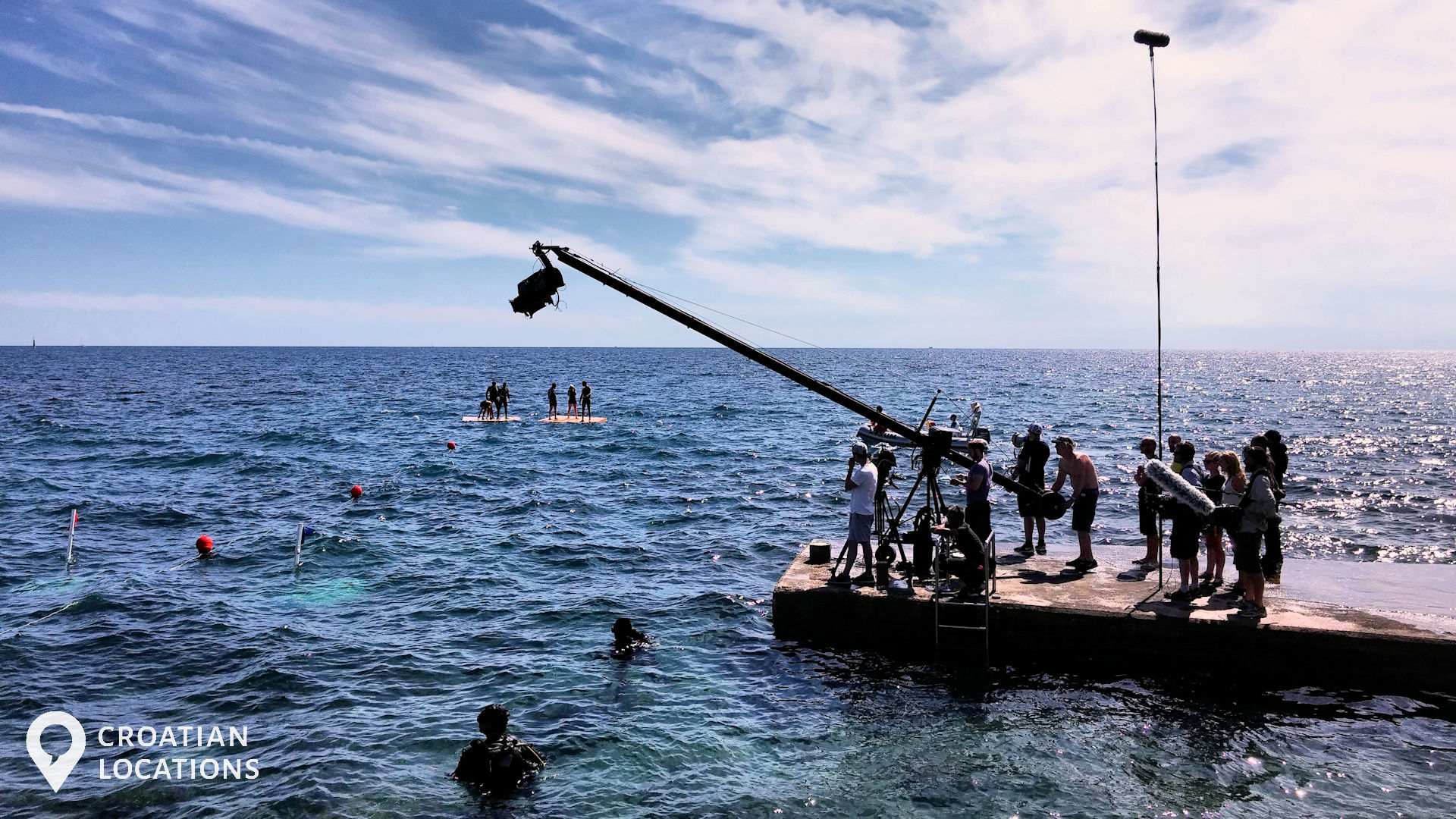 Filming a reality TV series on one of 26 locations in Istria, Croatia