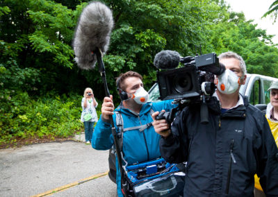 Sam Brolan, sound and Matthew Green, DoP